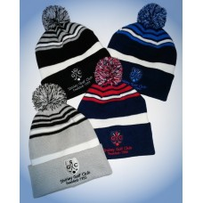 Level 4 Golf Bobble Hats - Shirley Golf Club Logo Crested Hats